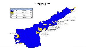 AP's political landscape painted predominantly in blue