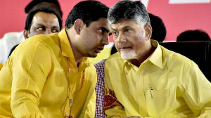 Babu asked to vacate home, Lokesh calls it a conspiracy